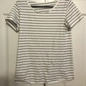 Black and white striped tee